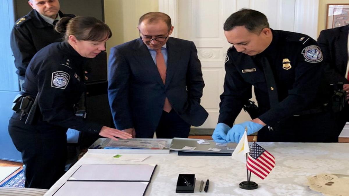 Baltimore CBP Repatriates Priceless Artifacts to Cyprus GovernmentOfficials