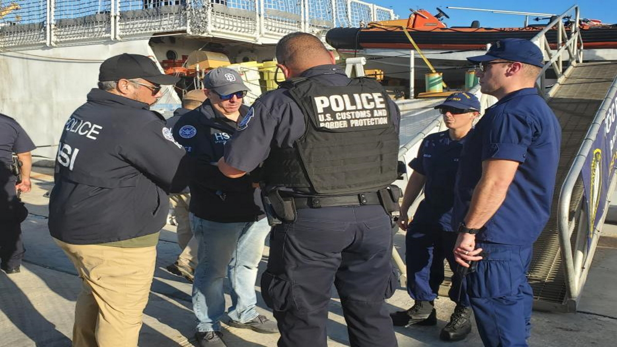CBP Assists US Law Enforcement Partners and British Royal Navy in $46.2 million in cocaine seizure in the CaribbeanSea