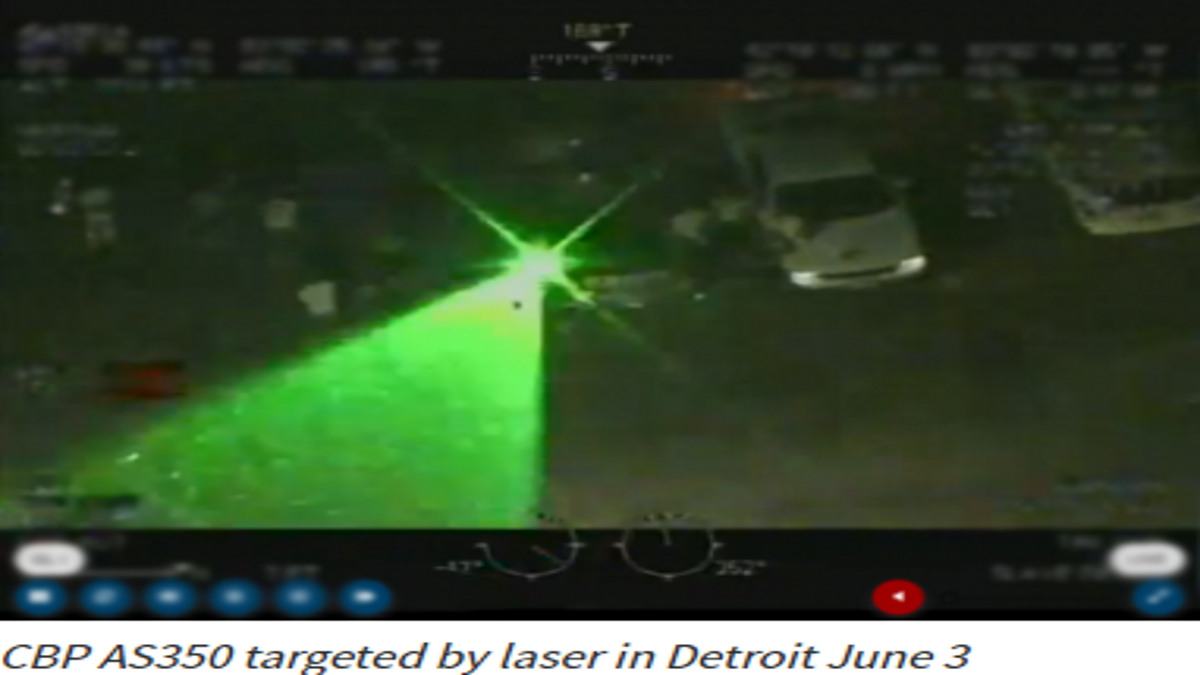 CBP Helicopter Experiences Dangerous Situation after being Targeted by Laser fromCanada