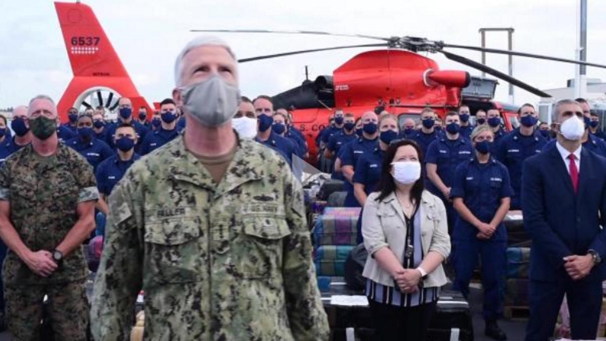 Coast Guard Cutter James offloads approximately 30,000 pounds of cocaine, marijuana at PortEverglades